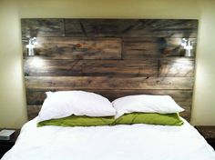 A great idea for stained timber headboard - we can make similar out of Australian timber flooring