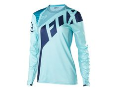 Long Sleeve Fox Racing Flexair Jersey in Ice Blue Womens Dirt Bike Gear, Dirt Bike Riding Gear, Dirt Bike Girl, Dirt Biking, Fox Racing Clothing, Mtb Clothing, Motocross Clothing, Fox Motocross, Motocross Bikes