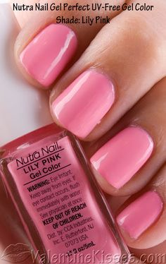 Nutra Nail Gel in Lily Pink.