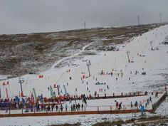 Fun with snow at #afriski . #explorelesotho