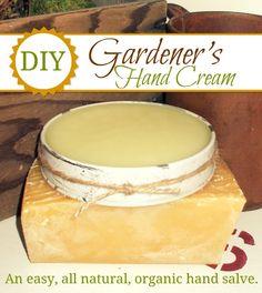 Growing Home: Gardener's Hand Cream Recipe