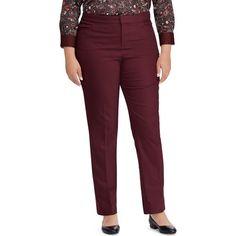 93d2659ee69 Chaps Plus Size Solid Slim Fit Pants