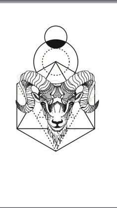 Geometric Tattoo – Geometric animal tattoo Aries ram – geometric background… - Andres Castillo tattoo designs ideas männer männer ideen old school quotes sketches 21 Tattoo, Aries Ram Tattoo, Aries Tattoos, Sexy Tattoos, Tattoos For Guys, Cool Tattoos, Widder Tattoos, Geometric Tattoo Pattern, Tattoo Sketches