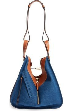 Loewe Large Hammock Denim & Leather Hobo available at #Nordstrom
