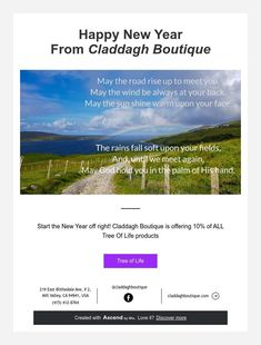 Happy New Year From Claddagh Boutique