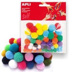 Pompones de colores Apli 78 Uds. - para manualidades.http://www.selfpaper.com/html/pompones-de-colores-apli-manualidades-pom-pom-g.html
