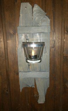 wandleuchter mit batterie teelicht selbstgebaut f r haus und garten die. Black Bedroom Furniture Sets. Home Design Ideas