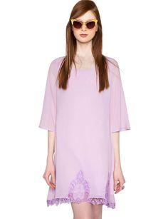 Lilac Crochet lace dress $44.00