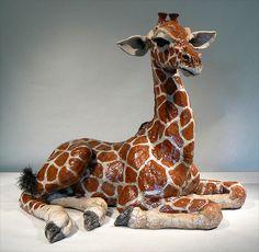Leslie D. Mckenzie  giraffe - raku sculpture | Flickr - Photo Sharing!