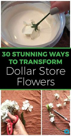 30 Mesmerizing Ways To Decorate Your Home With Artificial Flowers from the Dollar Store. Fun and frugal DIY home decorating ideas and craft projects that you're going to love! diy crafts 30 mesmerizing ways to decorate with artificial flowers Flower Crafts, Diy Flowers, Unique Flowers, Fake Flowers Decor, Flower Diy, Dollar Tree Flowers, Artificial Floral Arrangements, Diy Craft Projects, Diy Summer Projects