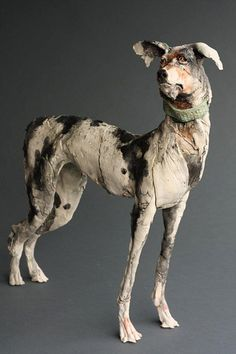 Ostinelli and Priest - Portfolio/Gallery - Ceramic Animal Sculptures Sculpture Textile, Paper Mache Sculpture, Dog Sculpture, Pottery Sculpture, Animal Sculptures, Pottery Art, Ceramic Animals, Clay Animals, Ceramic Figures