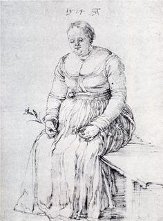 DURER Albrecht - German painter/engraver (Neurenberg 1471 - 1528) ~ Seated Woman -