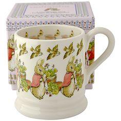 """Beatrix Potter"" Flopsy Rabbit Pint Mug Boxed at Emma Bridgewater Peter Rabbit Cake, Christening Present, Bowls, Beatrice Potter, Evil Stepmother, Emma Bridgewater Pottery, Peter Rabbit And Friends, Pumpkin Carriage, Tea Party"