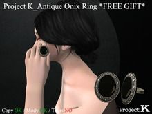 Project K_Antique Onix Ring *FREE GIFT*