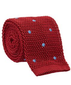 Nick Bronson Red Pois Brode Spot Knitted Silk Tie | Men's Accessories | Liberty.co.uk