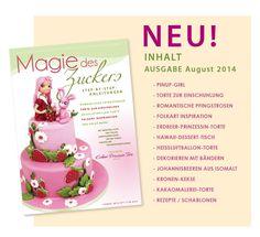 neue Ausgabe Magie des Zuckers Pinup, Dessert, Kakao, Place Cards, Place Card Holders, Cover, Pentecost, Stencils, Desserts