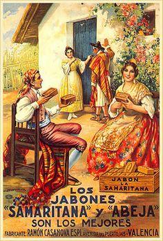 Jabones Samaritana y Abeja @@@@......http://www.pinterest.com/marajosmuoz/publicidad-antigua/