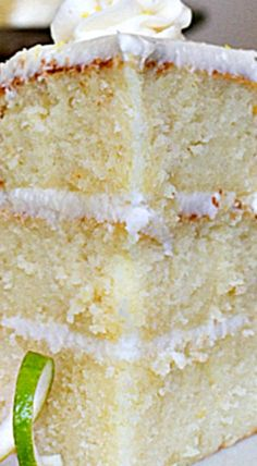 Lemon Chiffon Cake with Coconut Cream Cheese Frosting ❊