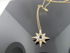 Ferro Jewelers - Brands | ANZIE Aztec Mini Starburst Necklace - Clear Topaz & Gold