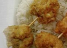 Boulettes de poulet riz vapeur