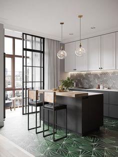 Un appartement en couleurs sombres à St Petersbourg
