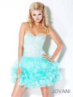 #Jovani 30075 Strapless Cocktail, prom dress #prom #promdress #FormalApproach