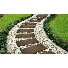 Envirotile Cobblestone 10 in. x 24 in. Earth Stair Tread Envirotile Cobblestone 10 in. x 24 in. Earth Stair Tread – The Home Depot Landscaping Supplies, Gardening Supplies, Landscaping Design, Backyard Landscaping, Garden Steps, Garden Paths, Railway Sleepers, Porch Steps, Garden Stepping Stones