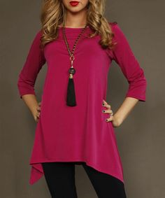 Another great find on #zulily! Fuchsia Sidetail Tunic by Lbisse #zulilyfinds