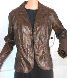 Erin London Metallic Faux Snake Skin Jacket Blazer Ladies Size Medium NWT   4205 #ErinLondon #Blazer