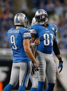 Matthew Stafford and Calvin Johnson (Getty Images)
