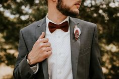 Marsala groom style from this gorgeous Southern wedding | Image by  Vic Bonvicini