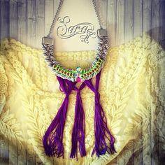 http://ift.tt/1Q1UYdl #neon #tassels #purple #fringe #necklace #summer #boho #hippie #beachjewelry #bignecklace #PicsArt #fashion #multicolored #colorful #style #trendy #beach #new #neonyellow #polyvore #sarakeyhandmade #newnecklace
