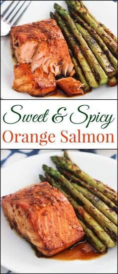 Today I'm excited to share one of my recent favorite dinners – sweet and spicy orange salmon. It's a healthy dinner idea that is quick and easy.