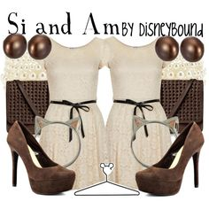 Si and Am by lalakay on Polyvore- the twin Siamese cats on Lady and the Tramp