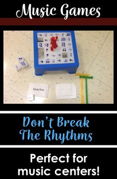 "This is a super fun (yet truly educational!) game based on the popular game, ""Don't Break the Ice!"" In this game, students must identify note names and hope they don't cause all the ice to fall!  These make great music workstations! #elmused #elementarymu"