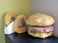 Larger Than Life, Paper Mache' Project - Conway High School Art Project Food Sculpture, Paper Mache Sculpture, Sculpture Projects, Middle School Art Projects, Art School, Art Education Lessons, Art Lessons, Pop Art Food, Intro To Art