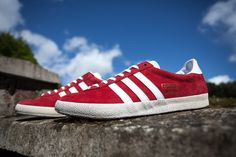 Forever a summer staple - the Adidas Gazlle in striking red.