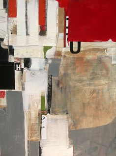 """Charlotte Foust, """"Fortress"""", mixed media on canvas"""