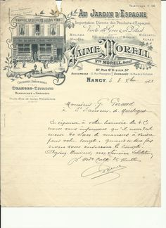 1920s Antique French Letter Antique shop front - Fantastic Letterhead Engravings and Typography. $9.00, via Etsy.