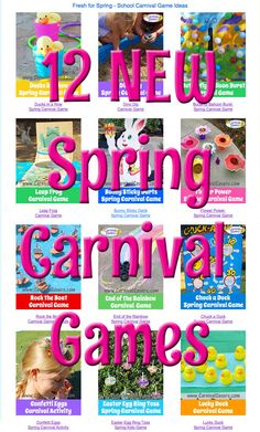 172 best school carnival ideas images on pinterest birthdays dont miss our new spring carnival ideas for we added some fun diy spring games like crazy caterpillar ladybug races and more solutioingenieria Image collections