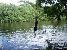 Top Things to do on Kauai for Families: Rope Swing