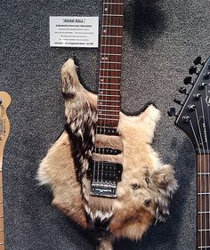 Is this for Manowar?  Crazy #Guitar, would piss PETA off...