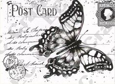 Butterfly Clear Stamps   Joy Crafts - Clear Stamps - Old Letter Butterfly