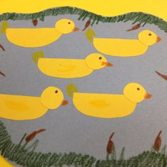 5 little ducks craft, pond week April Preschool, Preschool Ideas, Craft Ideas, Summer Crafts, Crafts For Kids, Duck Crafts, Nursery Rhymes Songs, Pond Life, Little Duck