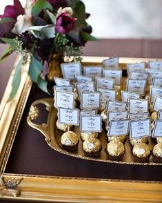Love how simple and yummy these placecards setting is! #heybride #pinterest by heybride