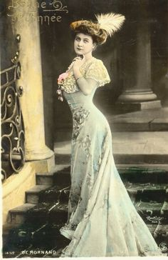 Early 20th century French tinted postcard