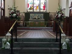 Weddings Home - Wedding Flowers by Feehily's Florist Love Flowers, Wedding Flowers, Wedding Arrangements, Home Wedding, Entryway Tables, Church Weddings, New Homes, Stairs, Furniture