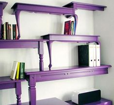 charming. alice in wonderland-esque. ALMOST makes me enjoy purple. #refurbishedfurniture