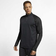 The Nike Dri-FIT Academy Drill Top keeps your core warm with soft fleece for cold days on the pitch. Stretchy sleeves let your arms move freely, and sweat-wicking technology helps you stay dry. Nike Dri Fit, Football Drills, Men's Football, Soccer Shorts, Pleated Pants, Soccer Training, Nike Tops, Black Tops, Social Media