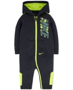 Nike 1-Pc. Hooded Therma-FIT Coverall, Baby Boys (0-24 months) https://presentbaby.com